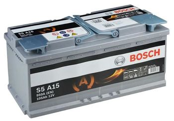 Bosch S5 AGM 12V 105Ah 950EN 394x175x190 -/+