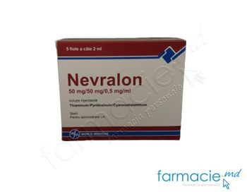 купить Nevralon sol. inj. 50 mg/50 mg/0,5 mg/ml 2 ml  N5 в Кишинёве