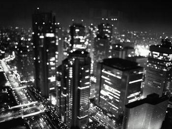 Картина напечатанная на холсте - Абстрактный город 0002 / Печать на холсте