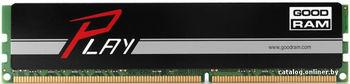 4GB DDR4-2400  GOODRAM Play, PC19200, CL17, 1.2V, Aluminum BLACK heatsink