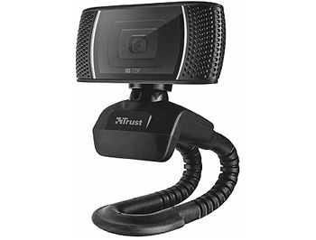 Trust Trino HD Video Webcam, 720p HD Webcam with convenient built-in microphone, 1,43m, USB