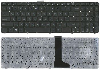 "Keyboard Asus U52 U53 U56 w/o frame ""ENTER""-small ENG/RU Black"