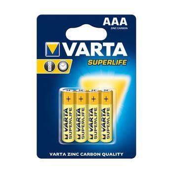 купить Батарейки Varta AAA Superlife 4 pcs/blist Zinc Carbon, 2003 101 414 в Кишинёве