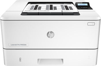 HP LaserJet Pro M402dn Printer, A4, 1200 dpi, up to 38 ppm, 128MB, Duplex, Up to 80000 pages/month, USB 2.0, Ethernet 10/100, PCL 5c, PCL 6, Postscript, HP ePrint, Apple AirPrint™, Wi-Fi direct printing, CF226A/X Cartridge (3100/9000 pages)