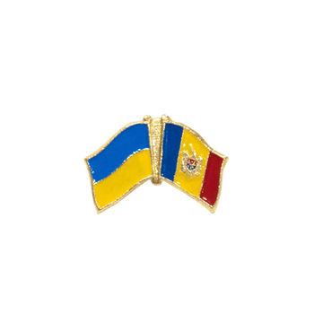 купить Значок - Флаг Украина & Молдова в Кишинёве