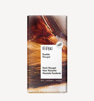 Темный шоколад с нугой био Vivani 100г