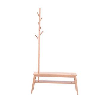 cumpără Cuier din lemn cu scaun, 1040x180x400 mm în Chișinău