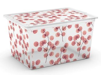 Коробка с крышкой Nature XL, 50l, 55X38.5X30.5cm, на колесах