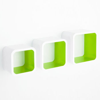 cumpără Poliţă Softcube 255x255x200 mm, alb+ verde în Chișinău