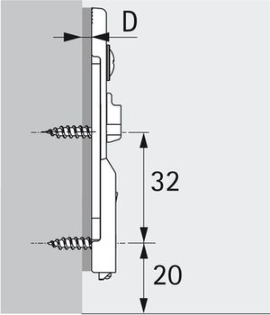 Plăcuță IN LINE Sensys obsidian 1,5 mm