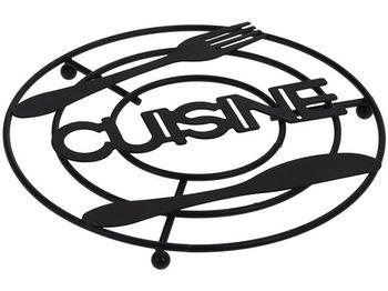"""Подставка под горячее """"Cuisine"""", D20сm, H1.5cm металлическая"""