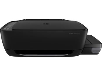 All-in-One Printer HP Ink Tank Wireless 415 + СНПЧ,Black, A4, up to 19ppm/16ppm black/color, up to 4800x1200 dpi, Wi-Fi Direct printing, Up to 1000 pages/month, 7 segment LCD, Hi-Speed USB 2.0, (GT51 Black 90ml, GT51XL Black 135ml, GT52 C/M/Y 70ml)