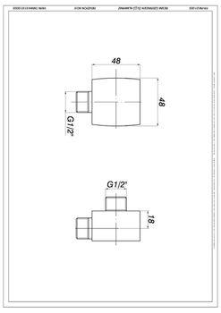 купить Адаптер (штуцер) для подключения шланга душа лейки (квадратный) GGR04  GPD в Кишинёве