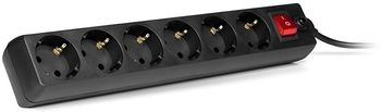 Surge Protector SVEN Optima Base, 6 Sockets, 5m,  Black