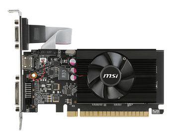 MSI GeForce GT 710 (GT 710 1GD3 LP) /  1GB DDR3 64Bit 954/1600Mhz, D-Sub, DVI, HDMI, Single fan, Low Profile Design, Retail