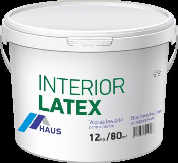Краска водоэмульсионная интерьерная Haus Latex 6 кг