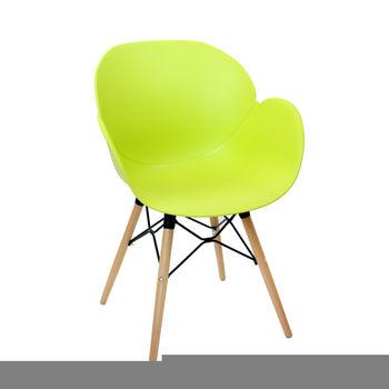 купить Пластиковый стул, деревянные ножки с металлической опорой 590x580x850 мм, зеленый в Кишинёве