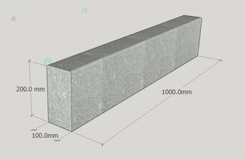купить Вибропрессованный бордюр 100x20x10 в Кишинёве