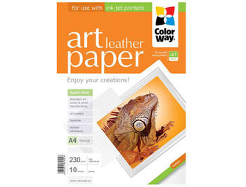 ColorWay Art Leather Glossy Finne Photo Paper, 230g/m2, A4, 10pack