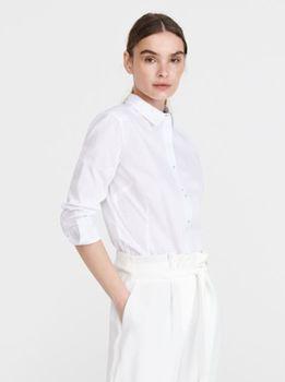 Блуза RESERVED Белая в горошек