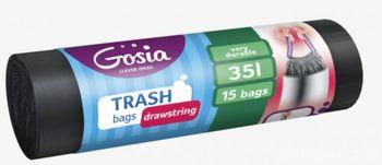 купить Мешки для мусора  35л (15 шт) GOSIA с завязками в Кишинёве