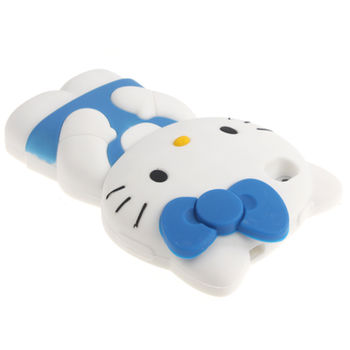 Чехол Hello Kitty синий для iPhone 4 / 4S