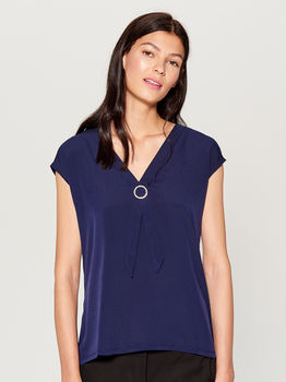 Блуза MOHITO Темно синий up181-95x