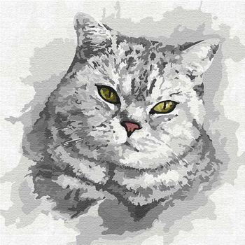 Картина для рисования по номерам Зеленоглазый взгляд 30x30 см  4200