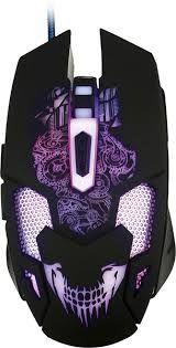 Игровая мышь Qumo Annihilator, оптическая, 1200-3200 dpi, 6 кнопок, Soft Touch, 7-цветная подсветка, USB