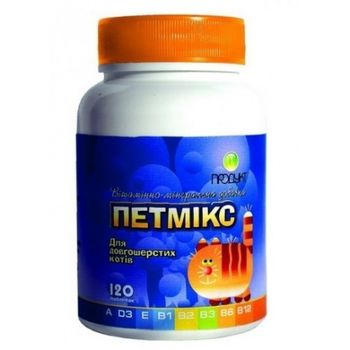 купить Витаминно-минеральная добавка Petmix для длинношерстных котов  150 табл в Кишинёве
