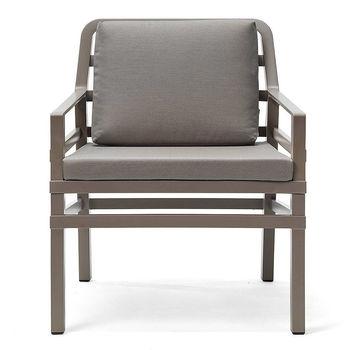Кресло с подушками Nardi ARIA TORTORA grigio Sunbrella 40330.10.136.136 (Кресло с подушками для сада и терас)