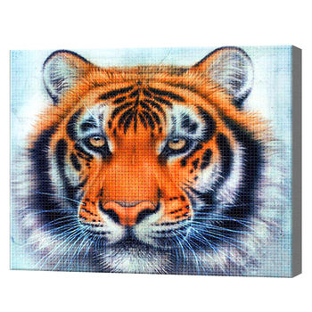 Тигр, 40x50 см, aлмазная мозаика