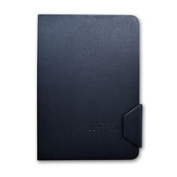 "7/8"" - Tablet Case - PORT ""SAKURA Universal  7/8"" - Midnight Blue  / Inside size: 213 x 154 x 13 mm - ULTRA LIGHT Tablet cover and Stand, Outside material: brushed Aluminium PU, Inside: Nubuck,  Hooks system to hold the tablet + 2 silicon suck caps"