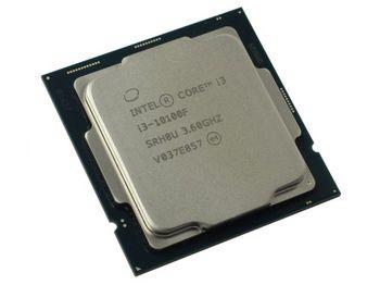 Процессор Intel Core i3-10100F 3,6–4,3 ГГц (4 ядра / 8 потоков, 6 МБ, S1200, 14-нм, без встроенной графики, 65 Вт)