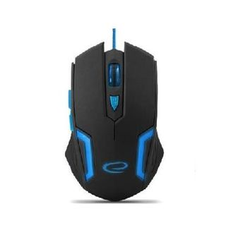 Esperanza FIGHTER MX205, Optical Mouse for professional game players, 6D, 800/1200/1600/2400 DPI, illuminated, braided cable 1.5m, USB, Blue