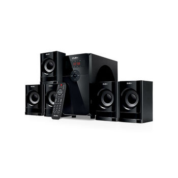 Home Theater SVEN HT-201, FM Tuner, Blluetooth, LED Display, remote, USB port, SD slot ( 5.1 surround, RMS 80W, 20W subwoofer,  5x12W Satellites )