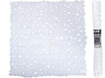 Коврик для душа 53X53cm MSV Galets белый, PVC