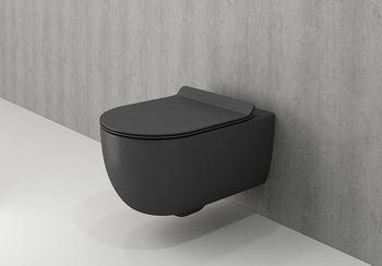 Унитаз подвесной V Tondo WC Антрацит Мат с крышкой soft close