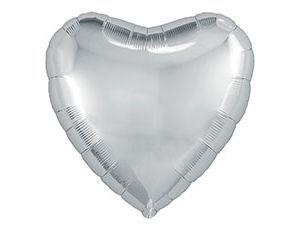Серебряная сердце 30 / 76,5 см