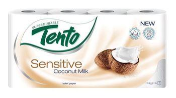 Туалетная бумага TENTO 3 слоя 18м*8 Sensitive