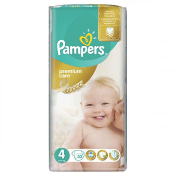купить Pampers подгузники Premium Care 4, 7-14кг. 52шт в Кишинёве
