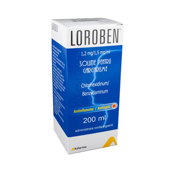 cumpără Loroben sol./gargarisme 1,2mg+1,5mg/ml 200ml în Chișinău