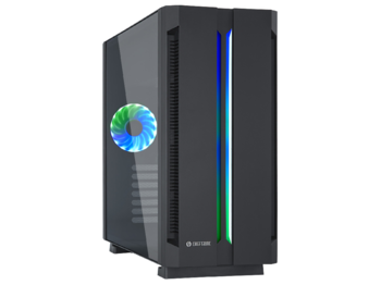 купить Case ATX Chieftec Chieftronic G1, w/o PSU, 1x120mm, RGB,RGB Hub, ARGB LED strip,Tempered Gass, Black в Кишинёве