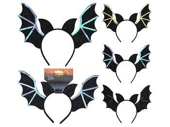 Обруч на голову Halloween Летучая мышь 27X23cm неоновый