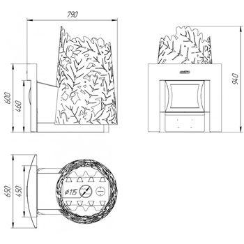 Банная печь Dubravo 180 Window