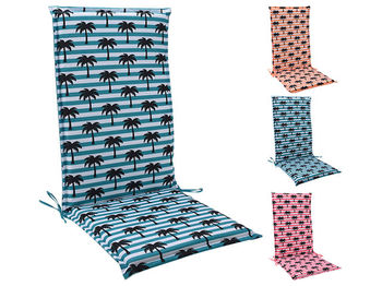"""Подушка для стула/кресла H&S 118X48cm """"Пальмы"""", 3цвета"""