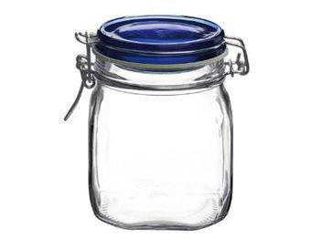 Банка для хранения/консервации Fido 0.75l,син зажимн кр