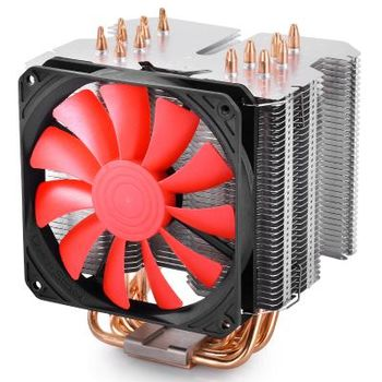 """DEEPCOOL Cooler  """"LUCIFER K2"""", Socket 775/1150/1151/1155/2011 & FM2/FM1/AM3+, up to 130W, fan: 120х120х20mm, PWM fan, 600~1800rpm, 18.2~32.4dBA, 61.93CFM, 4 pin, Hydro Bearing, Full-copper base, 6 heatpipes"""