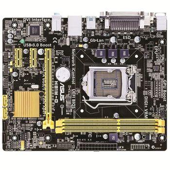 ASUS H81M-D R2.0, Socket 1150, Intel® H81, Dual 2xDDR3-1600, 1xPCIe X16, CPU Intel graphics, 2xSATA2, 2xSATA3(6Gb/s), 2xPCIe X1, 1x COM, 1x LPT,  ALC887 7.1ch HDA, GigabitLAN, 2xUSB3.0(5Gb/s), mATX