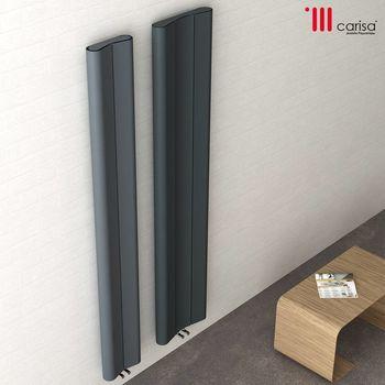 Дизайнерский радиатор  Carisa CURVY 1800×620 alum TXGrey